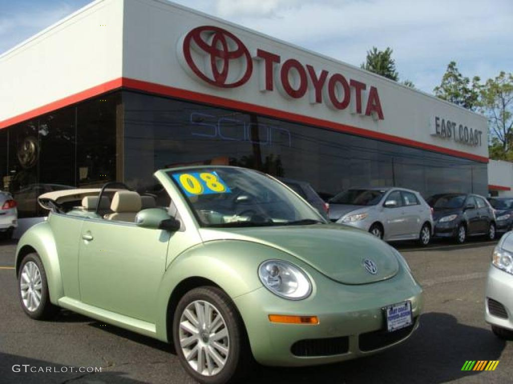 2008 Gecko Green Volkswagen New Beetle Se Convertible 18030281 Car Color Galleries