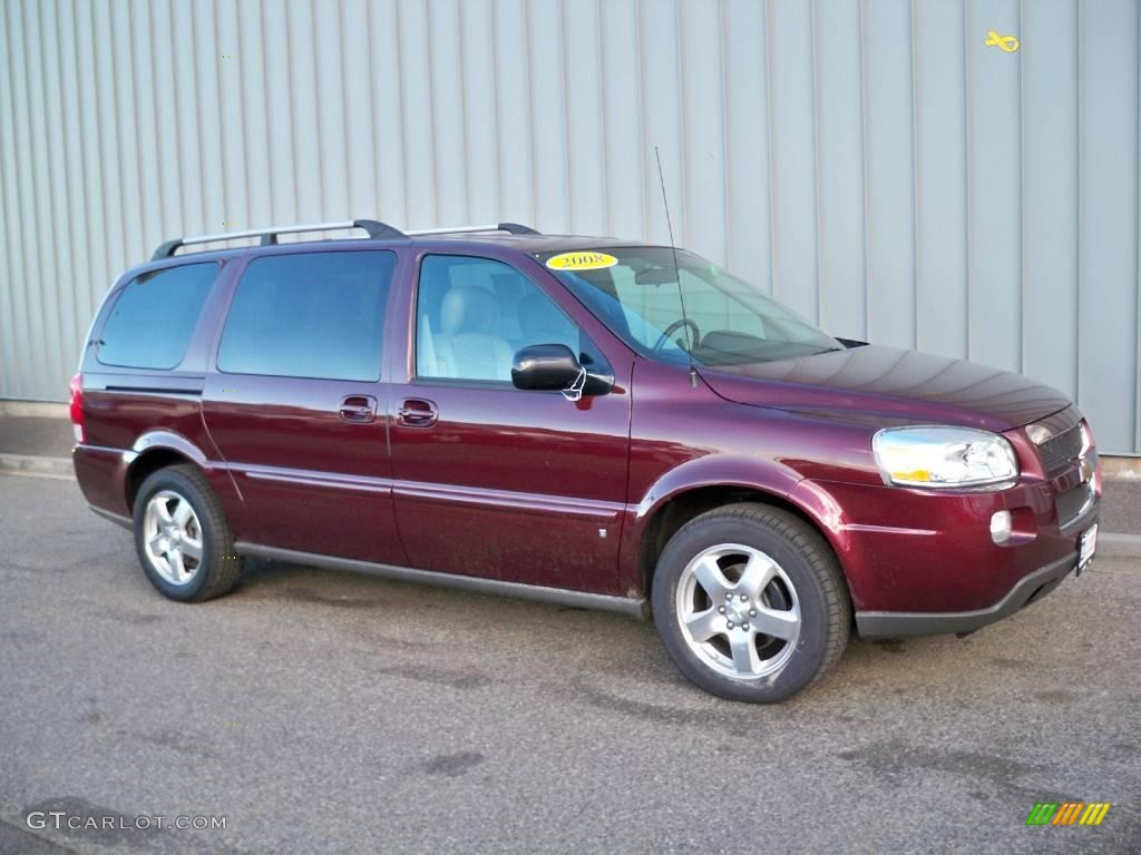 2008 Bordeaux Red Metallic Chevrolet Uplander Lt 1800709