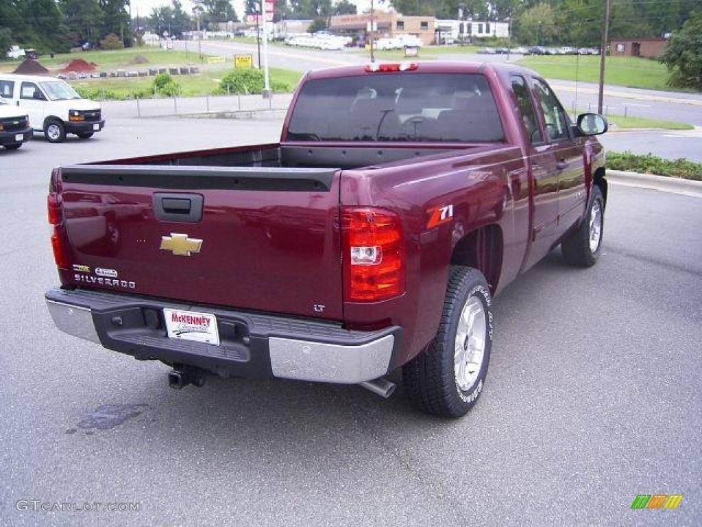 2009 Silverado 1500 LT Extended Cab - Deep Ruby Red Metallic / Light Titanium photo #5