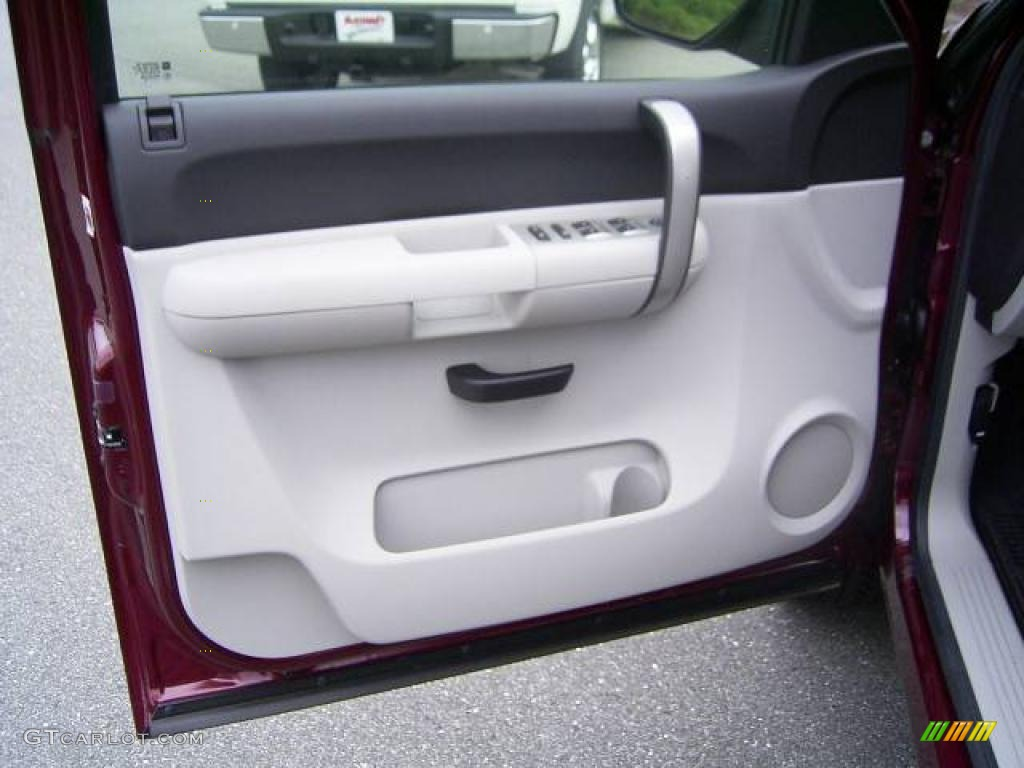 2009 Silverado 1500 LT Extended Cab - Deep Ruby Red Metallic / Light Titanium photo #8