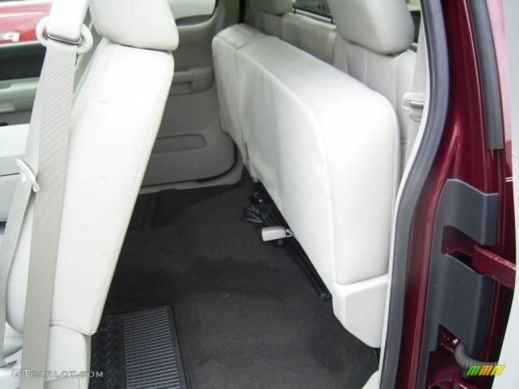 2009 Silverado 1500 LT Extended Cab - Deep Ruby Red Metallic / Light Titanium photo #11