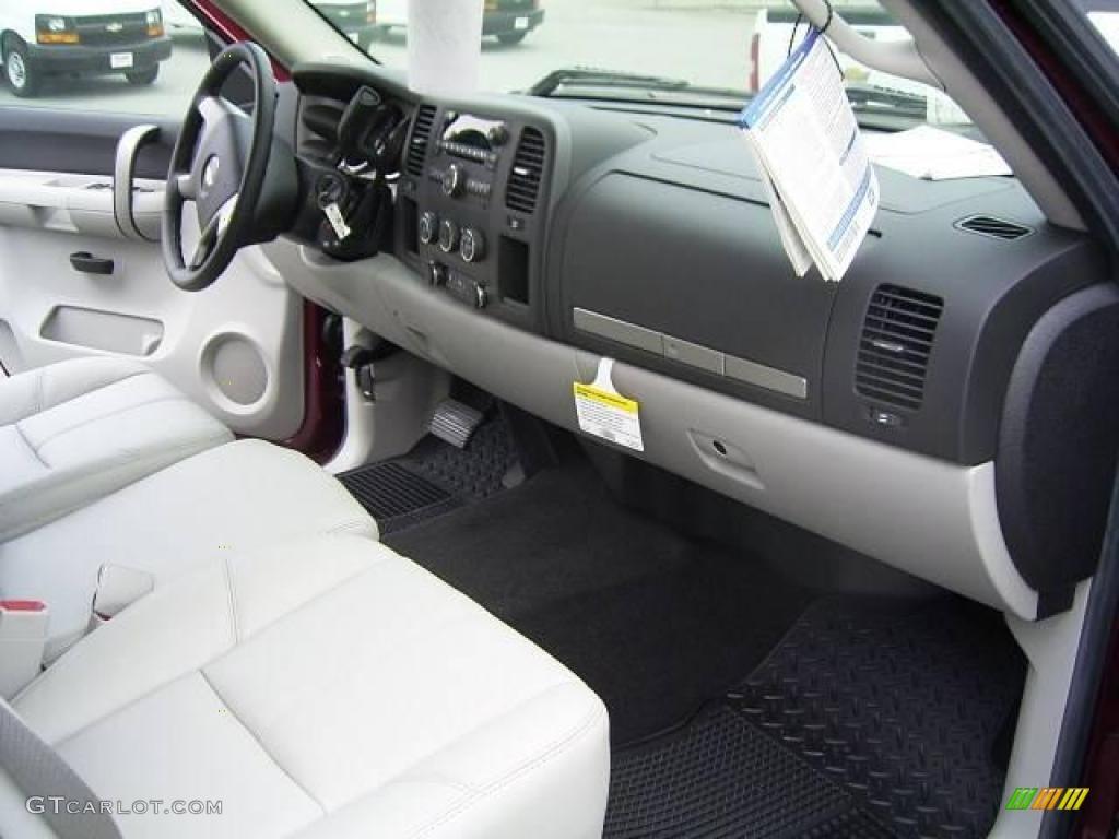2009 Silverado 1500 LT Extended Cab - Deep Ruby Red Metallic / Light Titanium photo #16