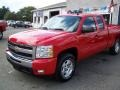 2009 Victory Red Chevrolet Silverado 1500 LT Extended Cab 4x4  photo #4