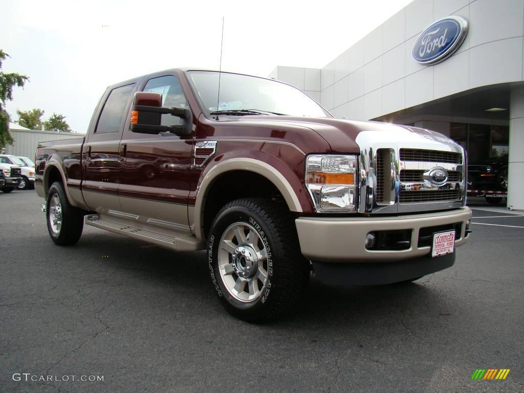 2010 royal red metallic ford f250 super duty king ranch crew cab 4x4 18029795. Black Bedroom Furniture Sets. Home Design Ideas