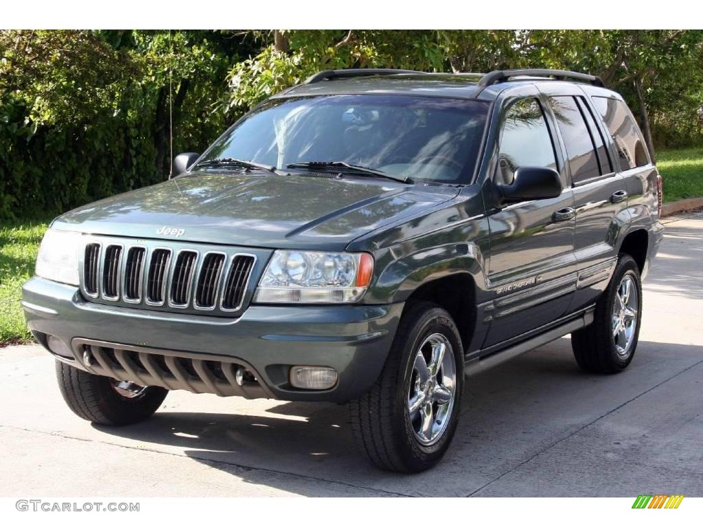2002 onyx green pearlcoat jeep grand cherokee overland 4x4 18031237 gtcarlot com car color galleries gtcarlot com
