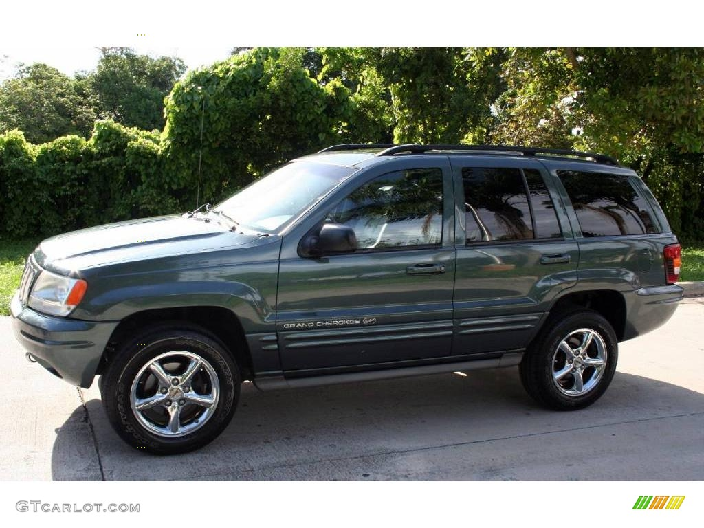 2002 onyx green pearlcoat jeep grand cherokee overland 4x4. Black Bedroom Furniture Sets. Home Design Ideas