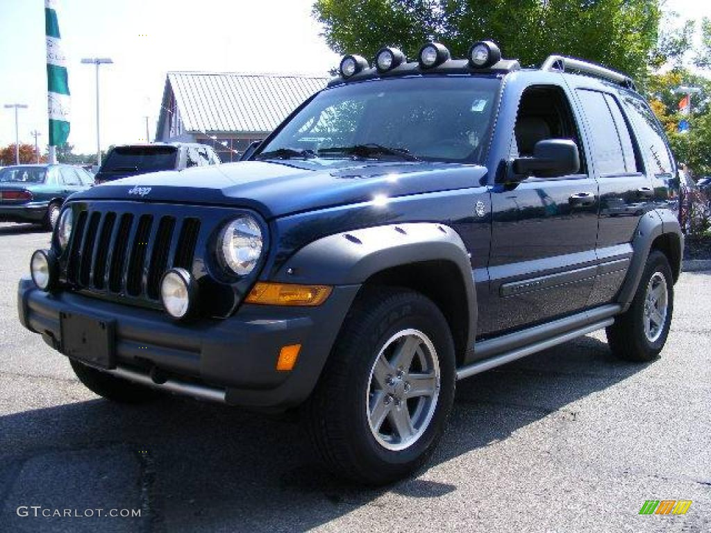 2005 midnight blue pearl jeep liberty renegade 4x4 #18021540