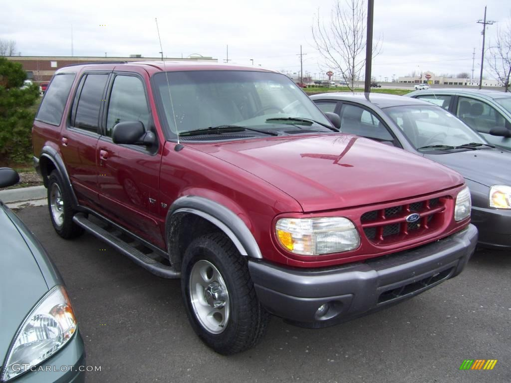 2001 toreador red metallic ford explorer xlt 1800162. Black Bedroom Furniture Sets. Home Design Ideas