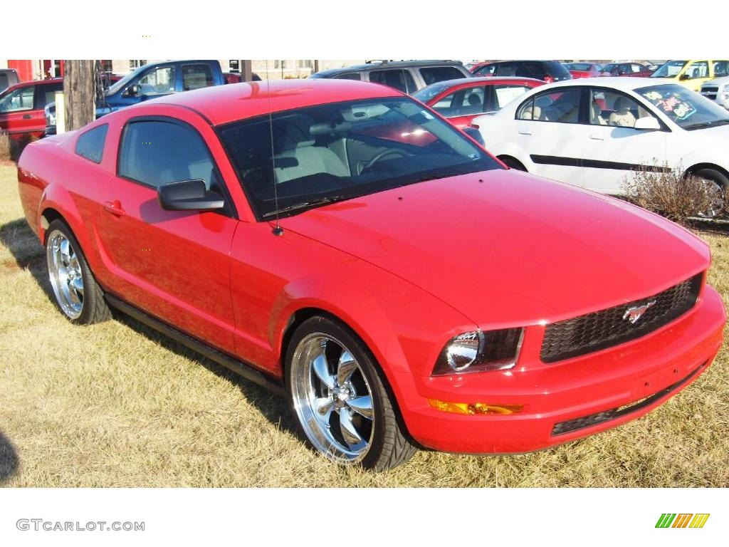 2007 Mustang V6 Premium Coupe - Torch Red / Light Graphite photo #1