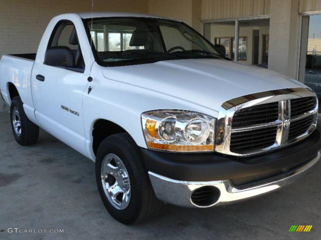 2006 dodge ram 1500 st regular cab bright white color medium slate. Black Bedroom Furniture Sets. Home Design Ideas