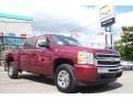 2009 Deep Ruby Red Metallic Chevrolet Silverado 1500 LS Crew Cab 4x4  photo #3