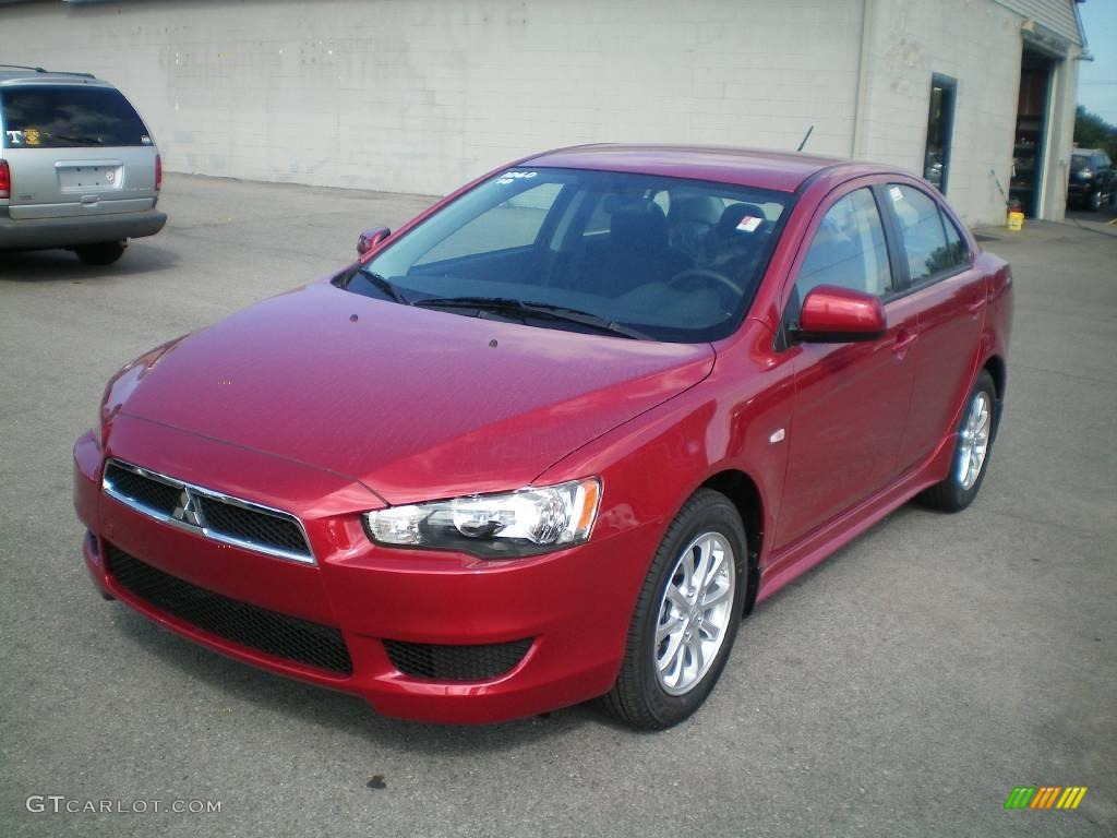 Marvelous Rally Red Metallic Mitsubishi Lancer. Mitsubishi Lancer ES