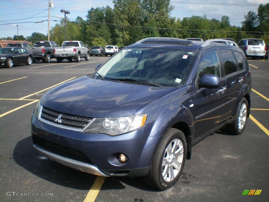 2008 deep blue metallic mitsubishi outlander xls 4wd 18098162 car color galleries. Black Bedroom Furniture Sets. Home Design Ideas
