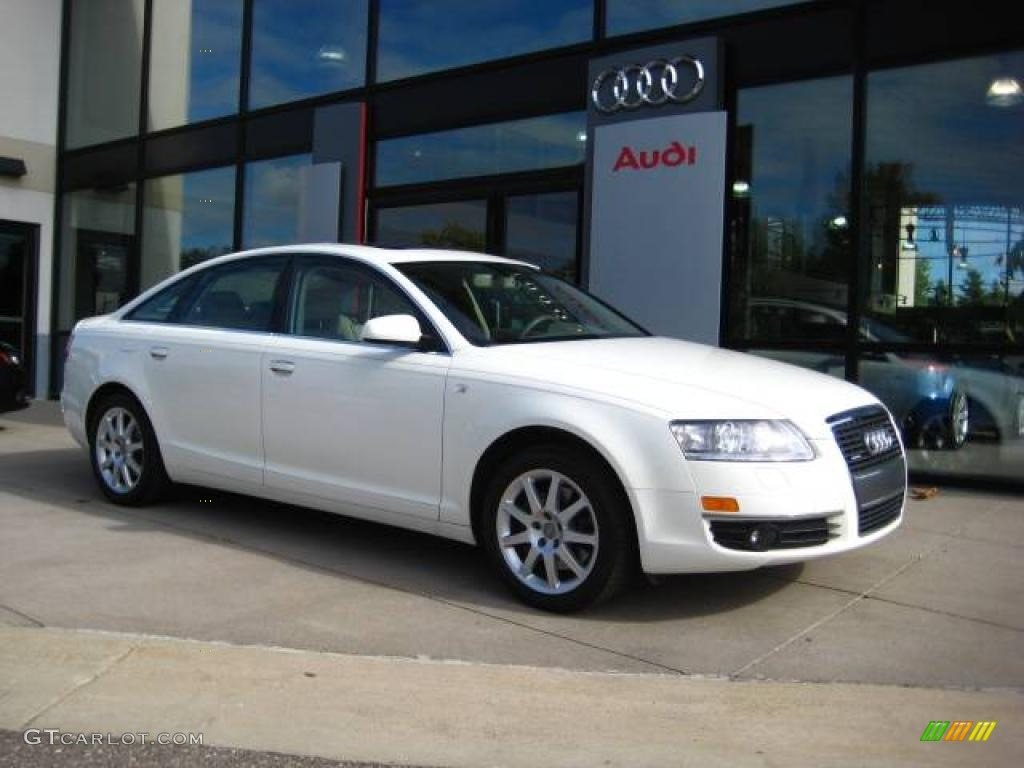 2005 arctic white audi a6 3 2 quattro sedan 18103420 car color galleries. Black Bedroom Furniture Sets. Home Design Ideas