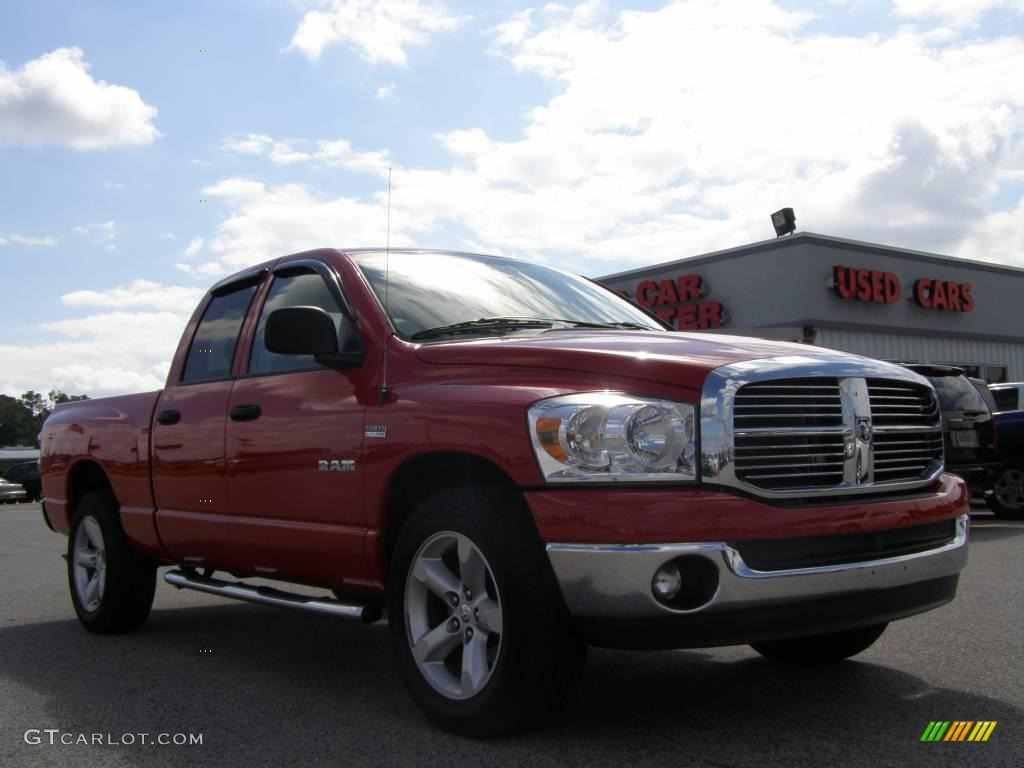 2008 flame red dodge ram 1500 big horn edition quad cab 18103220 car color. Black Bedroom Furniture Sets. Home Design Ideas