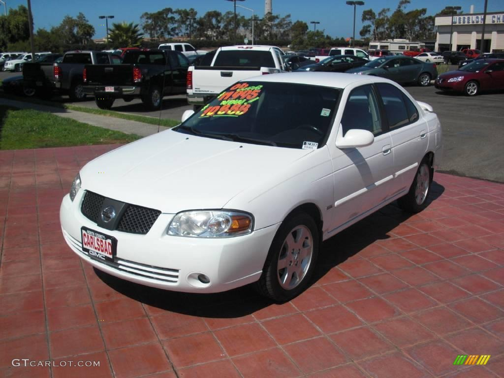 2006 cloud white nissan sentra 1 8 s special edition 18110067 car color galleries. Black Bedroom Furniture Sets. Home Design Ideas