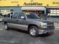2002 Medium Charcoal Gray Metallic Chevrolet Silverado 1500 LS Extended Cab  photo #1