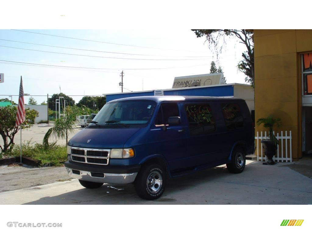 1997 medium blue metallic dodge ram van 2500 conversion 18171651 photo 8 car. Black Bedroom Furniture Sets. Home Design Ideas