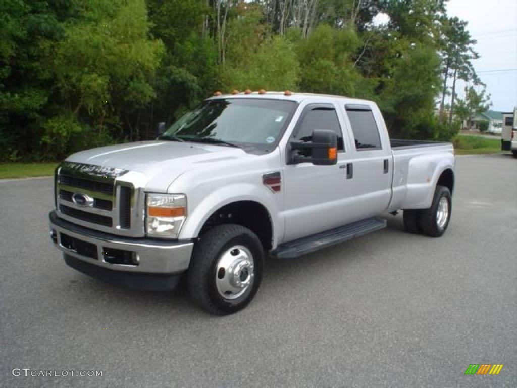 2008 silver metallic ford f350 super duty xlt crew cab 4x4 dually 18171599 gtcarlot com car