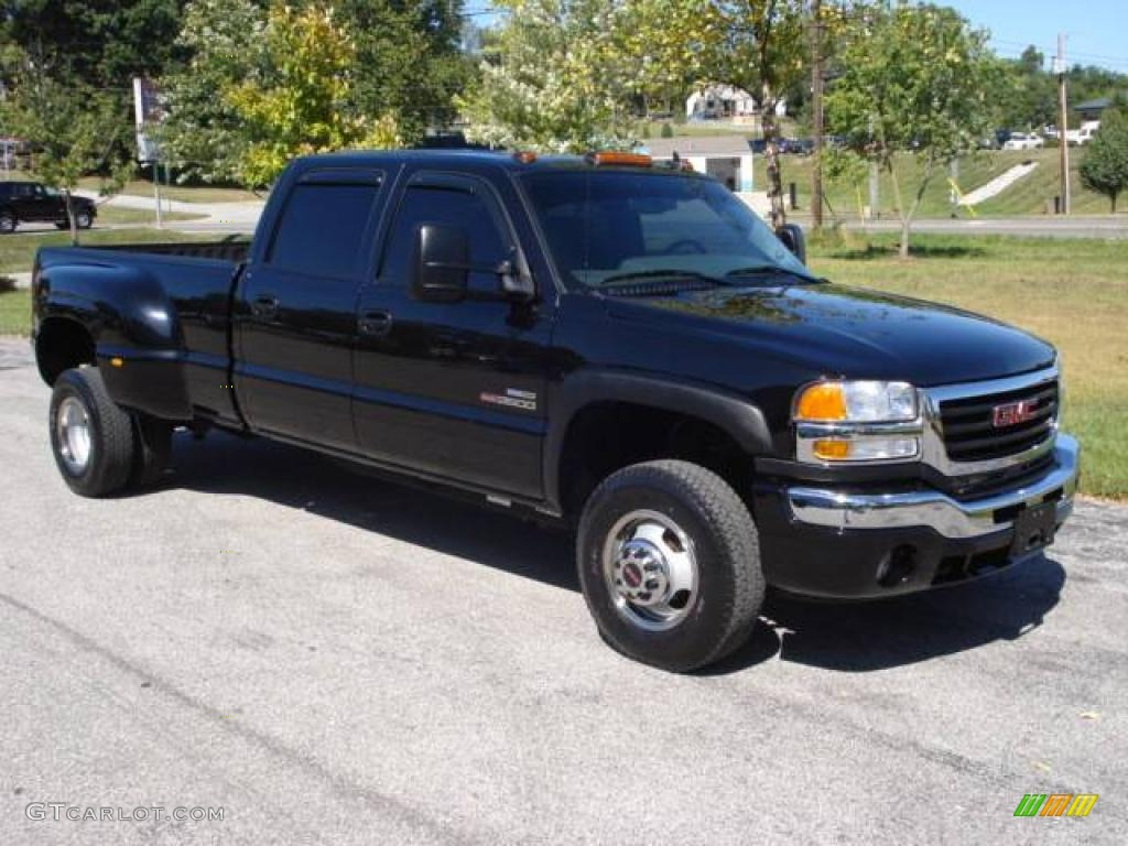 2006 sierra 3500 slt crew cab 4x4 dually onyx black dark pewter photo