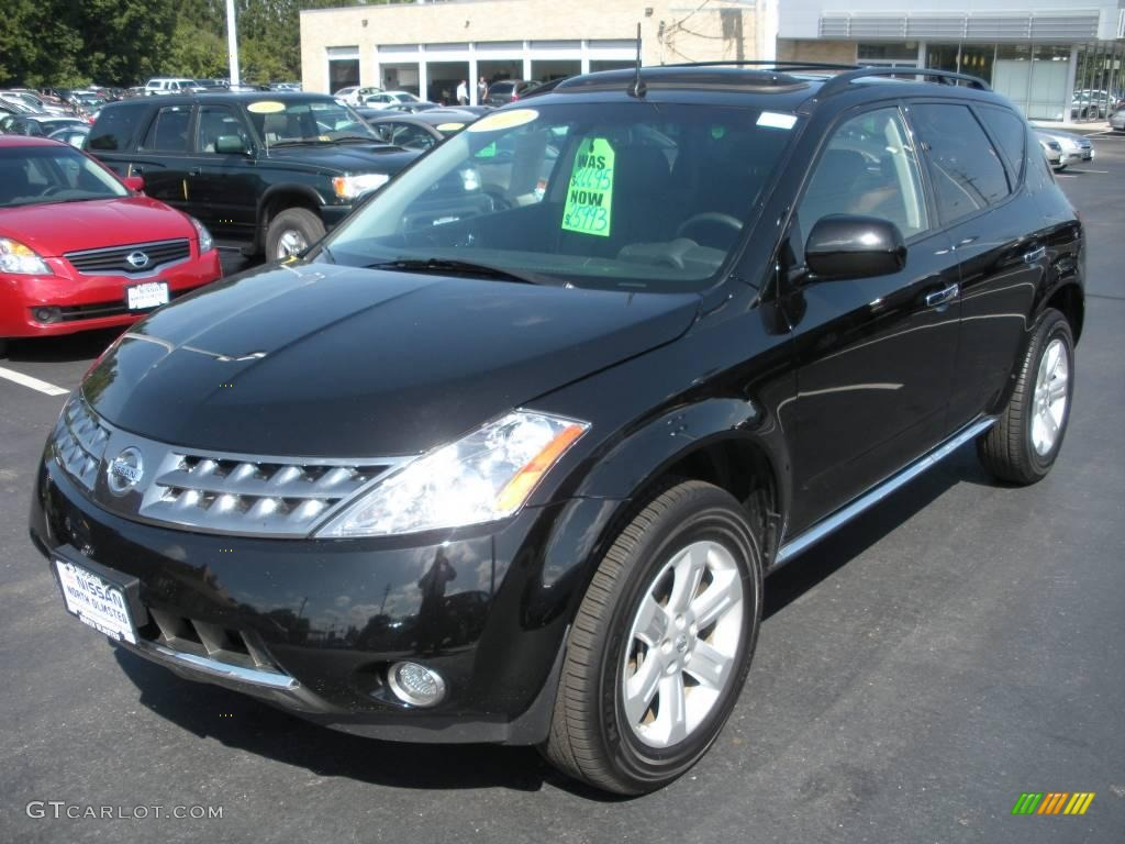 2007 Murano SL AWD - Super Black / Charcoal photo #1