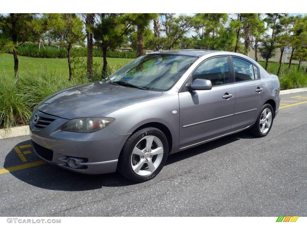 2004 titanium gray metallic mazda mazda3 s sedan 18229058 car color galleries. Black Bedroom Furniture Sets. Home Design Ideas