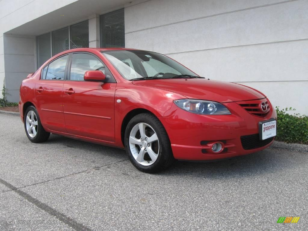 2005 velocity red mica mazda mazda3 s sedan 18231578 car color galleries. Black Bedroom Furniture Sets. Home Design Ideas