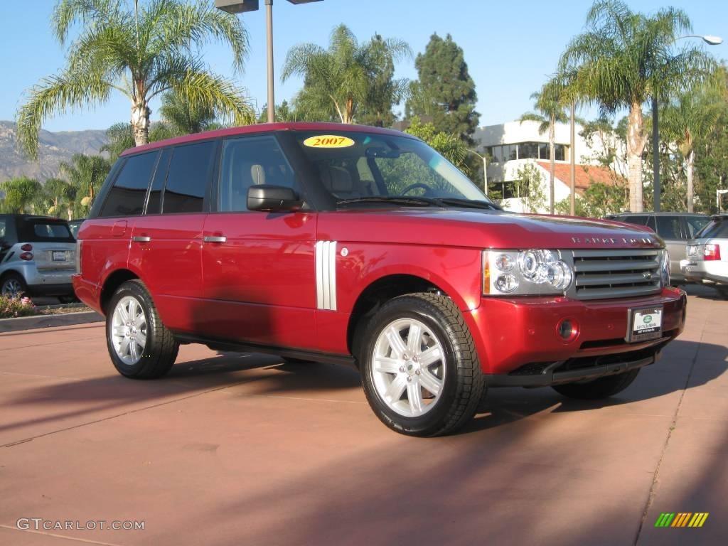 2007 Range Rover HSE - Rimini Red Metallic / Sand/Jet photo #1