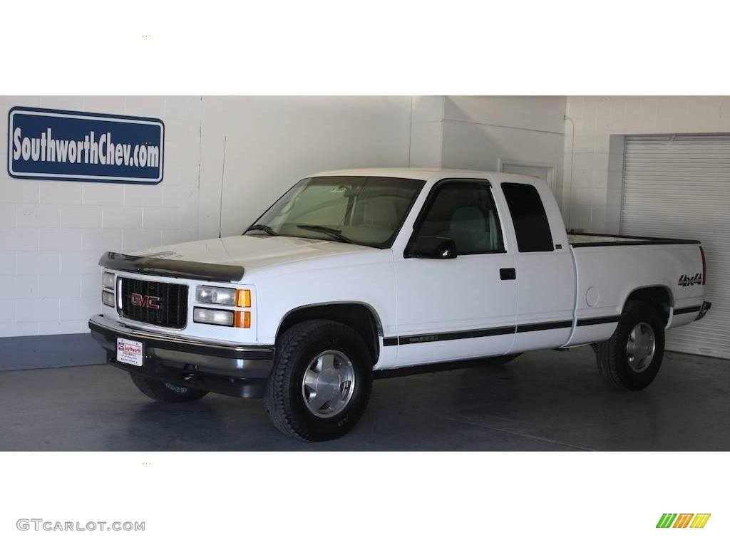 1997 Olympic White Gmc Sierra 1500 Sle Extended Cab 4x4 18234938 Gtcarlot Com Car Color Galleries