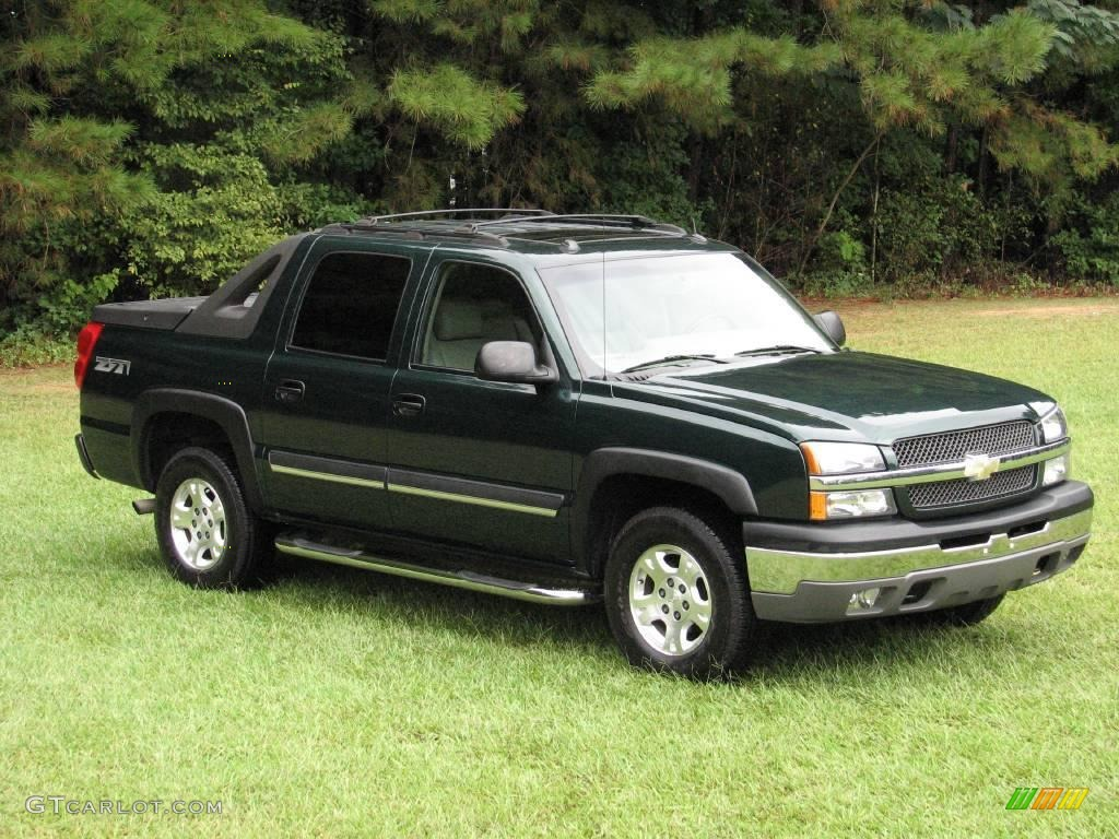 2004 Dark Green Metallic Chevrolet Avalanche 1500 Z71 4x4