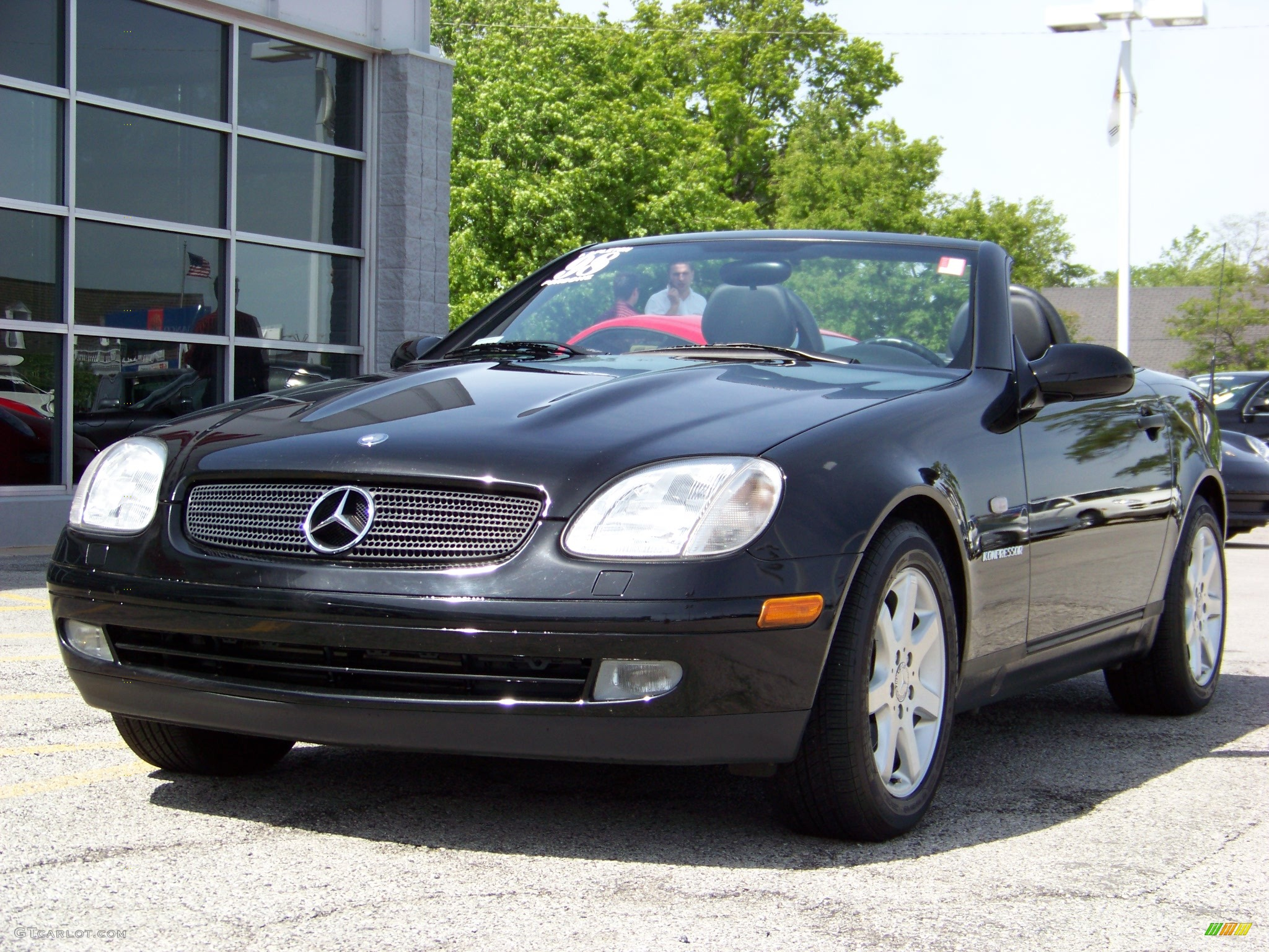 1998 black mercedes benz slk 230 kompressor roadster 182686 car color galleries. Black Bedroom Furniture Sets. Home Design Ideas