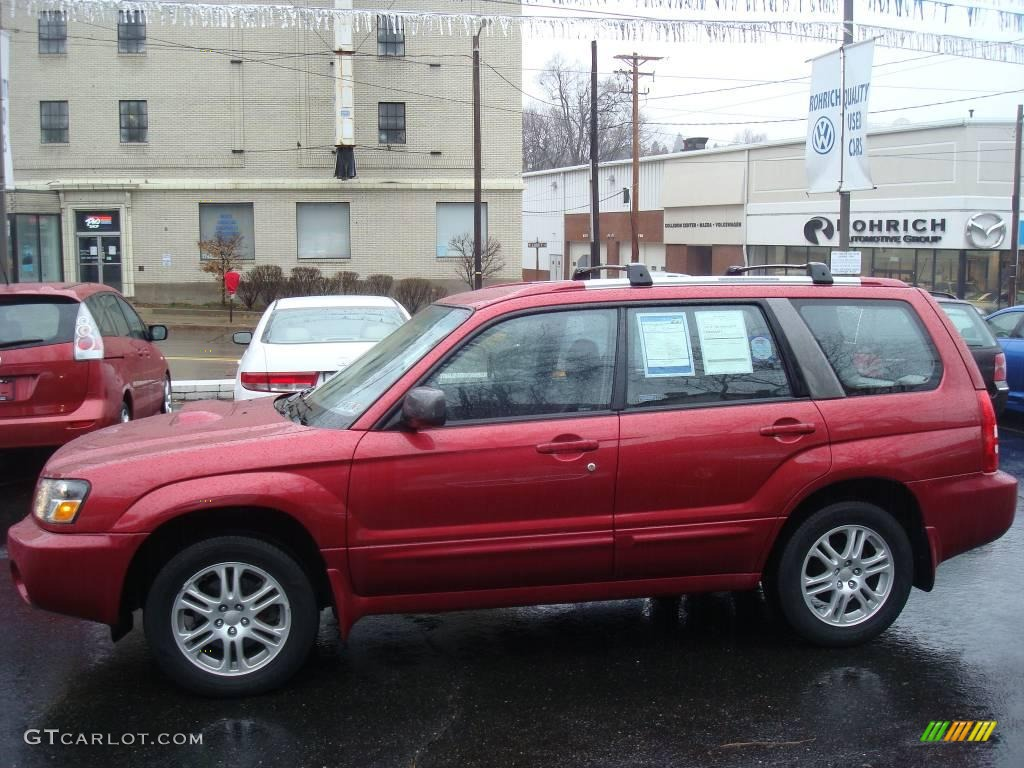 2005 cayenne red pearl subaru forester 25 xt 1830166 photo 2 2005 forester 25 xt cayenne red pearl off black photo 2 vanachro Choice Image