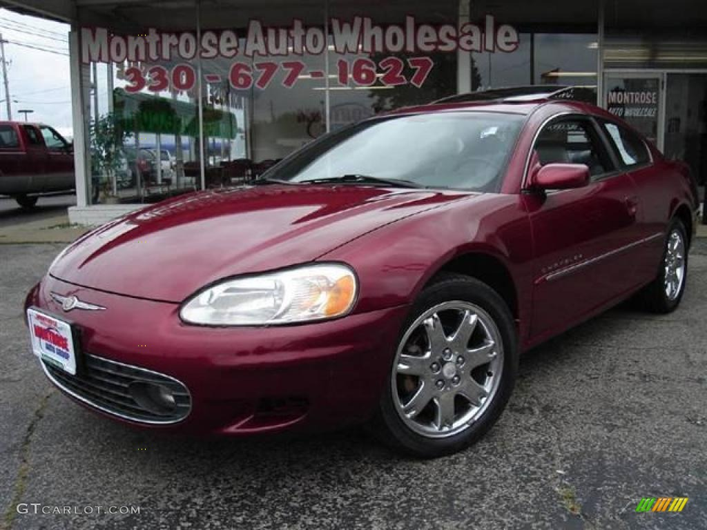 2001 Ruby Red Pearlcoat Chrysler Sebring Lxi Coupe