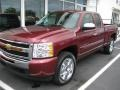 2009 Deep Ruby Red Metallic Chevrolet Silverado 1500 LT Extended Cab  photo #1