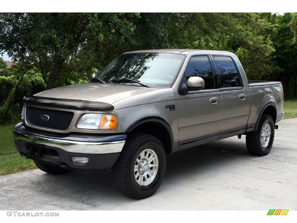 2001 arizona beige metallic ford f150 lariat supercrew 4x4 18392224. Cars Review. Best American Auto & Cars Review
