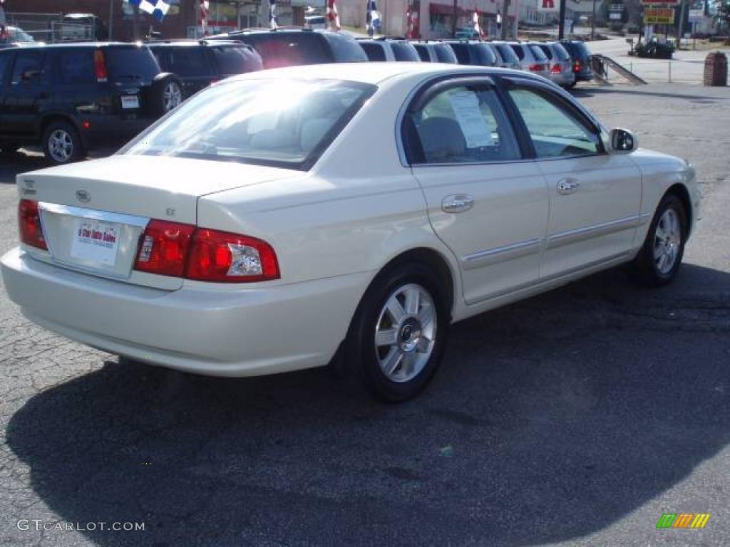 2004 optima ex pearl white beige photo 5