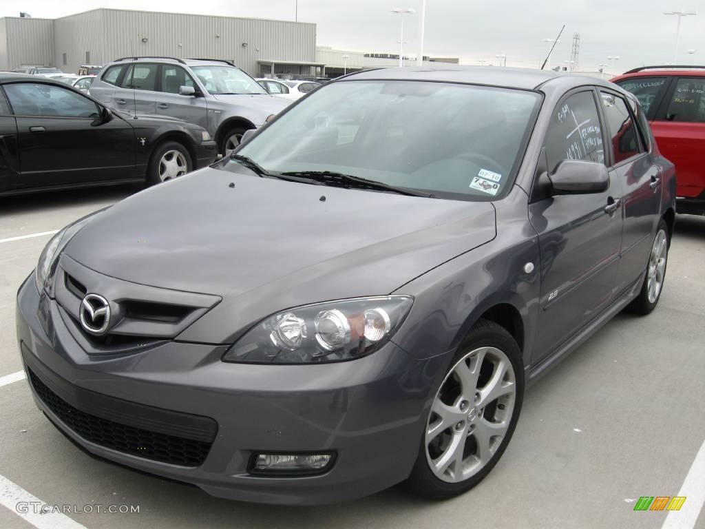 2007 galaxy gray mica mazda mazda3 s sport hatchback 18396284 photo 3 car. Black Bedroom Furniture Sets. Home Design Ideas