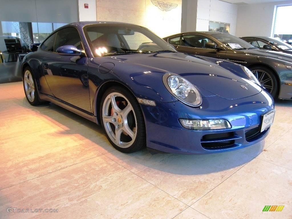 2007 911 Carrera S Coupe - Cobalt Blue Metallic / Black photo #1