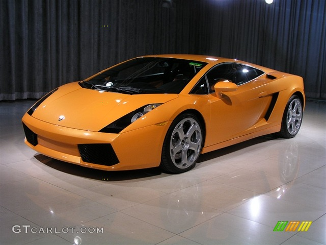 2004 gallardo coupe e gear arancio borealis orangeblack photo 1