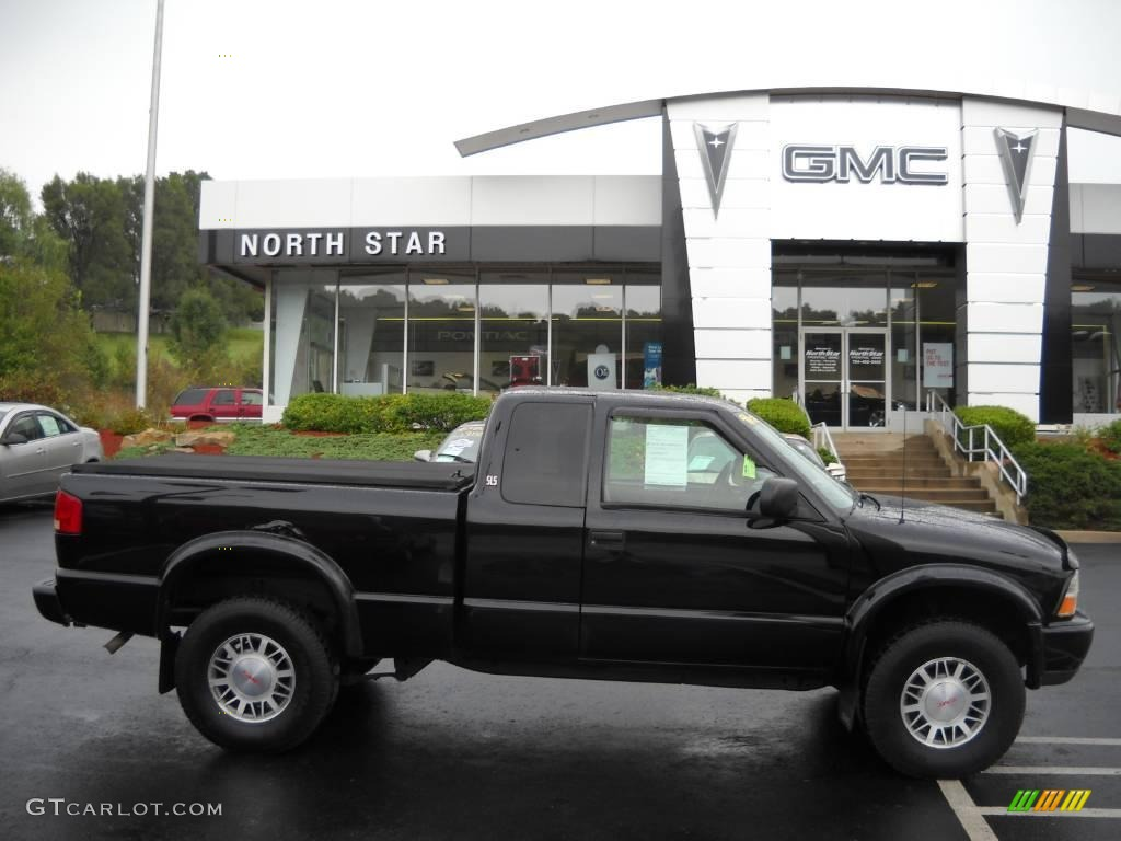 2000 Onyx Black Gmc Sonoma Sls Sport Extended Cab 4x4 18443388 Gtcarlot Com Car Color Galleries