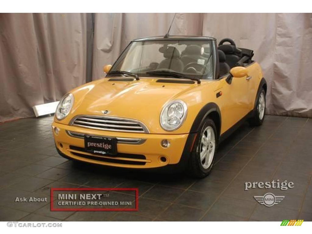 2007 Mellow Yellow Mini Cooper Convertible 18435809 Gtcarlot Com Car Color Galleries
