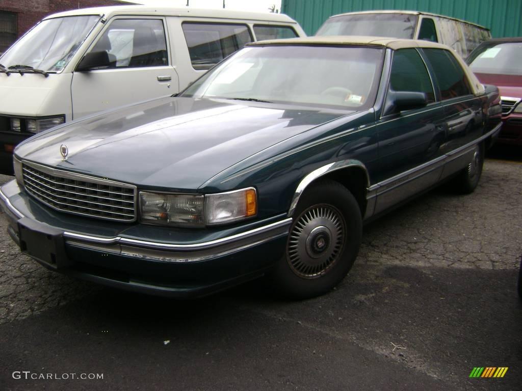 1995 dark calypso green metallic cadillac deville sedan 18446586 gtcarlot. Cars Review. Best American Auto & Cars Review