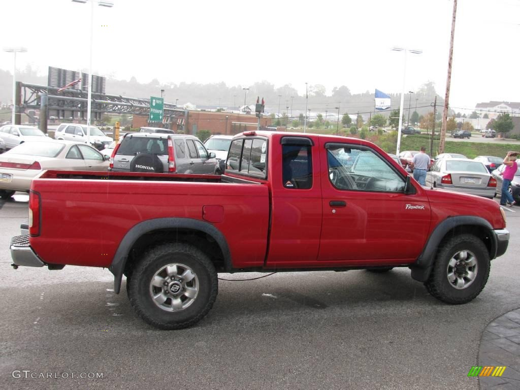 1998 aztec red nissan frontier xe extended cab 4x4 18502245 photo 6 car color. Black Bedroom Furniture Sets. Home Design Ideas