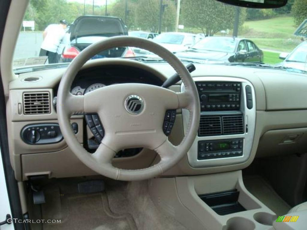 2003 Ceramic White Tri Coat Mercury Mountaineer Premier Awd 18503649 Photo 10
