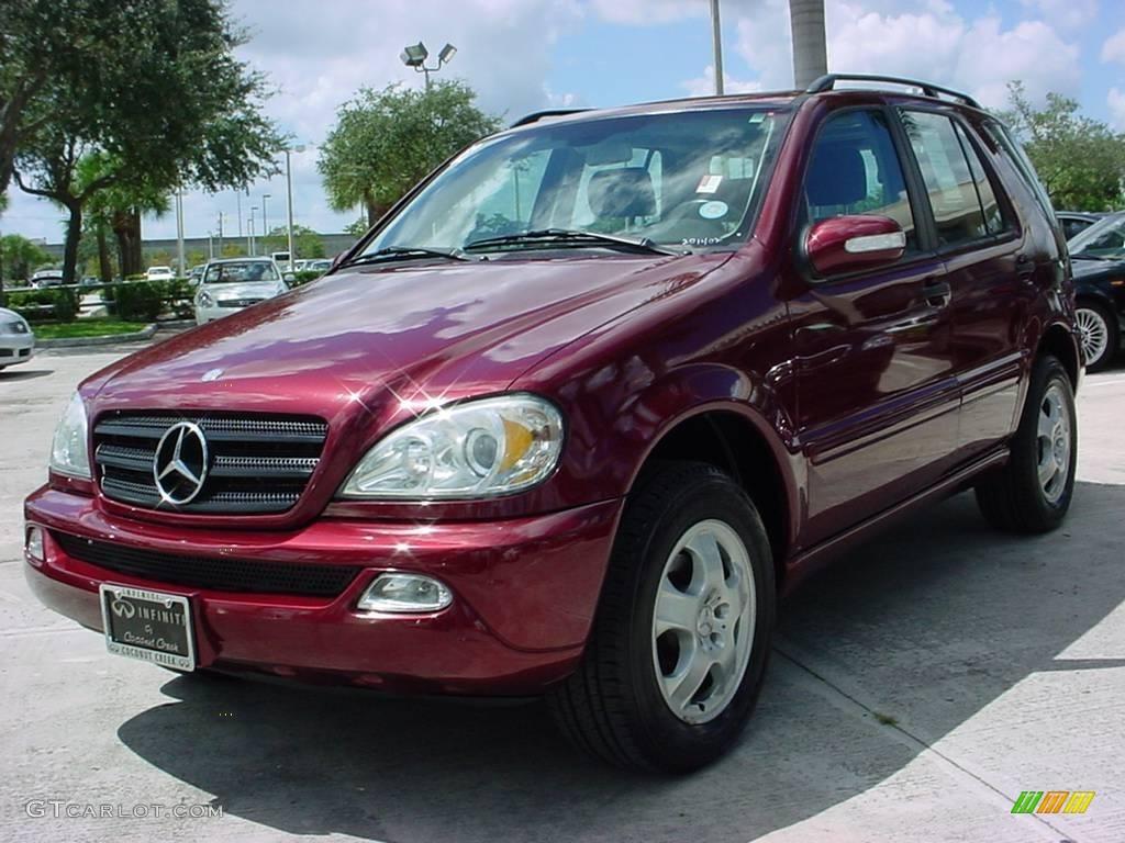 2002 bordeaux red metallic mercedes benz ml 320 4matic for Mercedes benz ml 2002