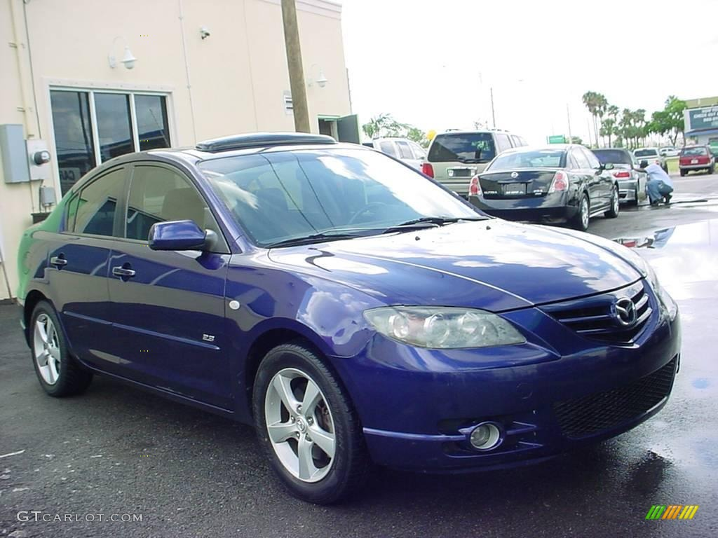 2004 strato blue mica mazda mazda3 s sedan 18508914 car color galleries. Black Bedroom Furniture Sets. Home Design Ideas