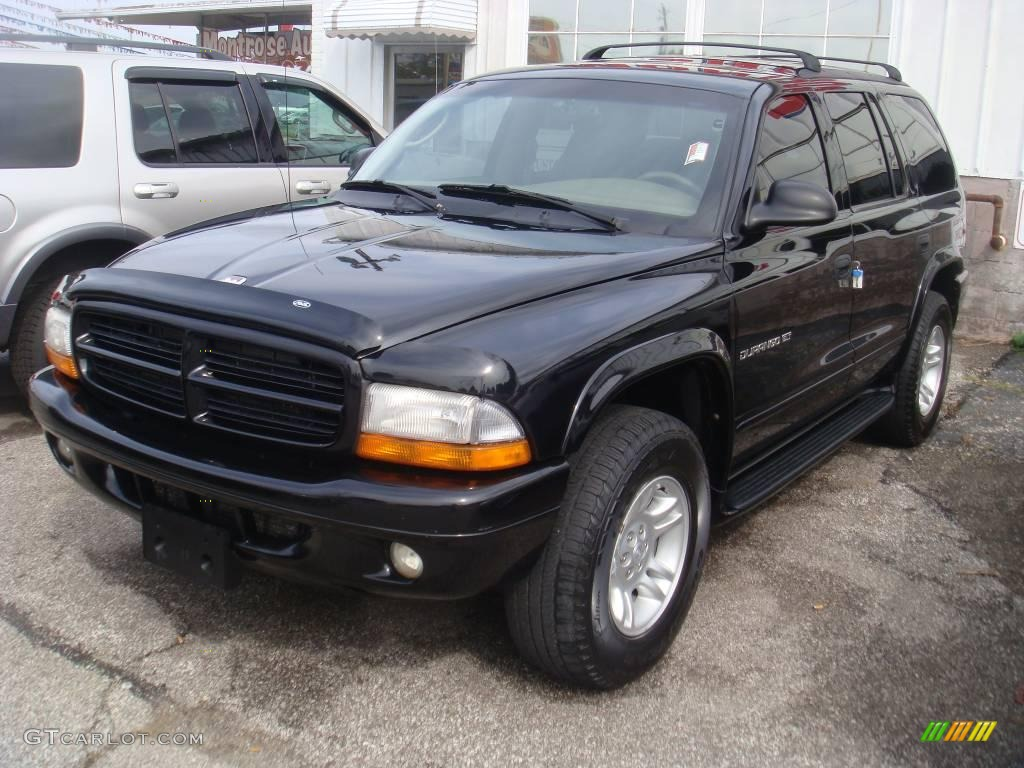 2001 Durango SLT 4x4 - Black / Sandstone photo #1