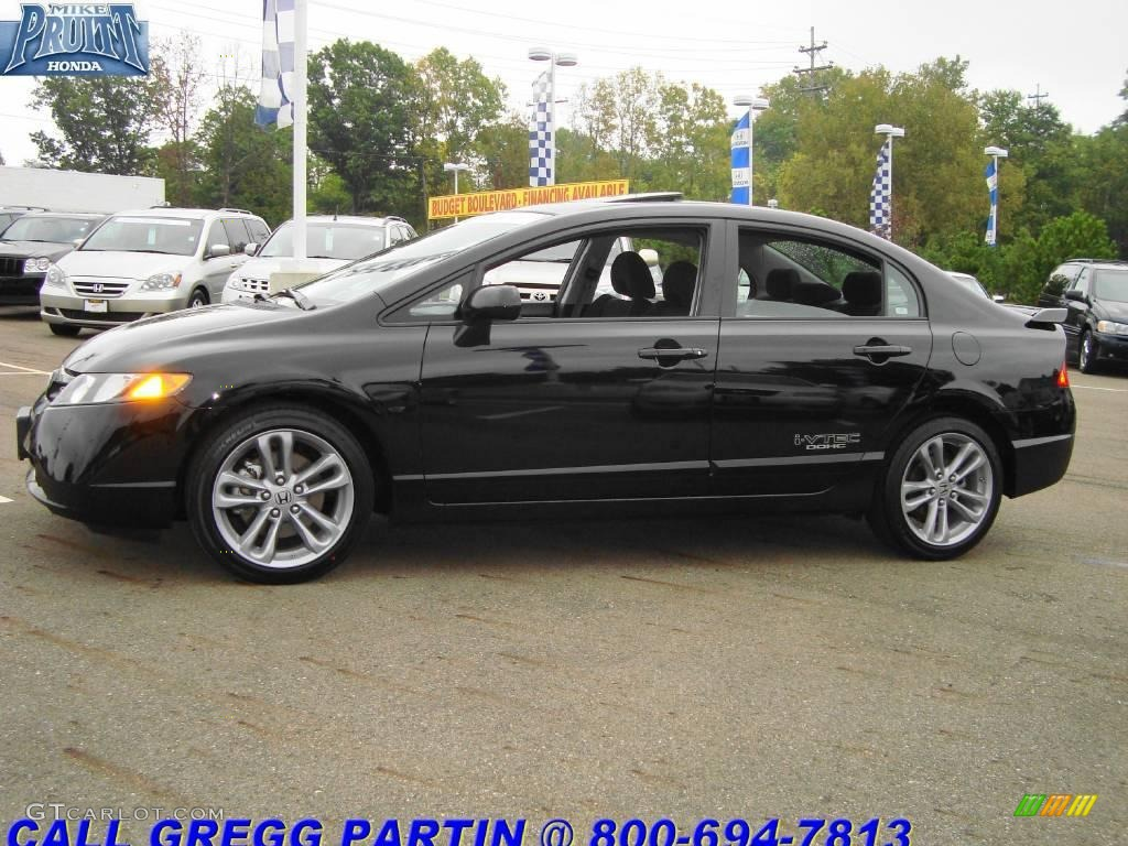 2008 nighthawk black pearl honda civic si sedan 18495572