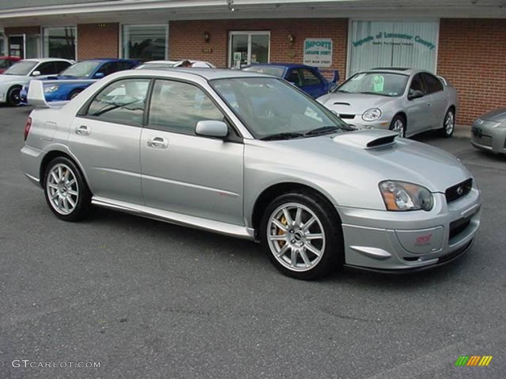 2005 Platinum Silver Metallic Subaru Impreza Wrx Sti