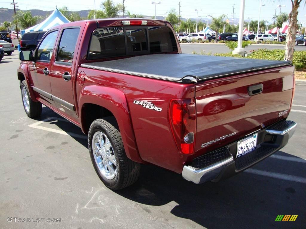 2007 sonoma red metallic gmc canyon sle crew cab 18575943. Black Bedroom Furniture Sets. Home Design Ideas